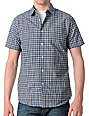 RVCA Equinox Blue Plaid Woven Shirt