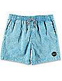 RVCA Fade Light Blue Elastic Hybrid Shorts