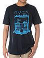 RVCA Fallow Grid Black T-Shirt
