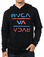 RVCA Reversed Black Pullover Hoodie