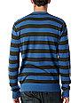 RVCA Stripe Blue Crew Neck Sweater