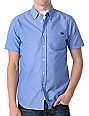 RVCA Thatll Do Blue Oxford Short Sleeve Woven Shirt
