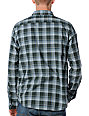 RVCA Uncle Joe Green Plaid Long Sleeve Woven Shirt