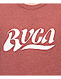 RVCA Wipe Out Vintage Burgundy T-Shirt