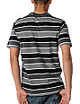RVCA Youre In Black & Charcoal Striped T-Shirt