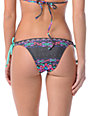 Raisins Total Eclipse Grey & Turquoise Tie Bikini Bottom