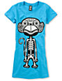 Ralik Monkey Bones Blue Glow T-Shirt