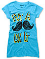 Ralik Put A Stache On It Blue T-Shirt