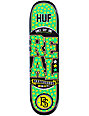 "Real x HUF Low Pro 8.0""  Plantlife Skateboard Deck"