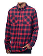 Roark Highway 4 Red & Navy Flannel Long Sleeve Shirt