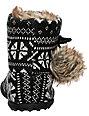 Rocket Dog Snowflake Black Nordic Slippers