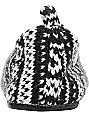 Roxy Hot Cocoa Black & White Knit Slippers