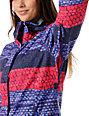 Roxy Jetty Moody Blue Stripe 8K Insulated Snowboard Jacket