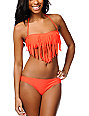 Roxy Surf Essentials Pop Orange Basic Bikini Bottom