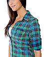 STS Blue Acid Wash Blue & Green Woven Shirt