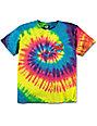 Santa Cruz Boys Screaming Hand Rainbow Tie Dye T-Shirt