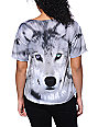 See You Monday Wolf Face Grey Sublimated T-Shirt