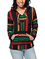 Senor Lopez Black, Red, Green & Yellow Poncho