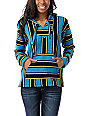 Senor Lopez Turquoise, Purple, & Yellow Poncho