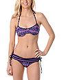 Shi Cozumel Purple Underwire Halter Bikini Top