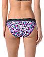 Shi Polka Dot & Floral Black Bikini Bottom