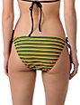 Shi Rasta & Black Mini-Stripe Bikini Bottom