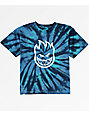 Spitfire Boys Big Head Navy Blue Tie Dye T-Shirt