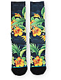 Stance Two Scoops Floral Crew Socks
