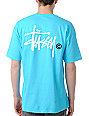 Stussy Basic Logo Turquoise T-Shirt