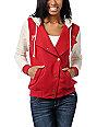 Stussy Red & Natural Varsity Hoodie