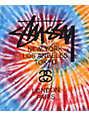 Stussy Swirl Orange & Black Tie Dye T-Shirt