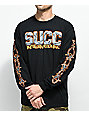Succ Barbed Wire Black Long Sleeve T-Shirt