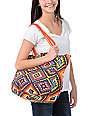 Super Trader Orange Tribal Tote Bag