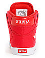 Supra Kids Vaider Red Canvas High Top Skate Shoes