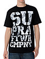 Supra Pile Up Black T-Shirt