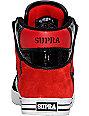 Supra Vaider Black & Red Suede Shoes
