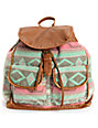 T-Shirt & Jeans Blanket Tribal Print Brown Backpack