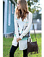 T-Shirt & Jeans Braid Fringe Brown Crossbody Purse