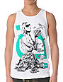 TMLS Money To Blow White & Mint Tank Top