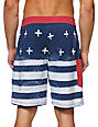 Tavik Patriot White & Blue 20 Board Shorts