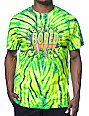 Teenage Bored Cracked Green Tie Dye T-Shirt