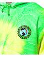 Teenage Madness Green Tie Dye Pullover Hoodie