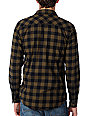 The Hundreds Bison Dark Beige Long Sleeve Woven Flannel Shirt
