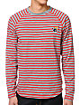 The Hundreds Rue Grey & Red Striped Long Sleeve T-Shirt