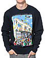 The Hundreds Wheres Adam Navy Crew Neck Sweatshirt