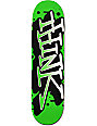 "Think Skateboards Green & White Spray Tag 8.25""  Skateboard Deck"