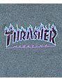 Thrasher Boys Flame Logo Purp T-Shirt