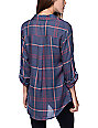 Thread & Supply Hannah Navy & Red Plaid Shirt