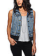 Thread & Supply Medium Wash Hooded Denim Vest