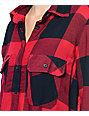 Thread & Supply Owen Oversized Red & Black Oversized Plaid Shirt